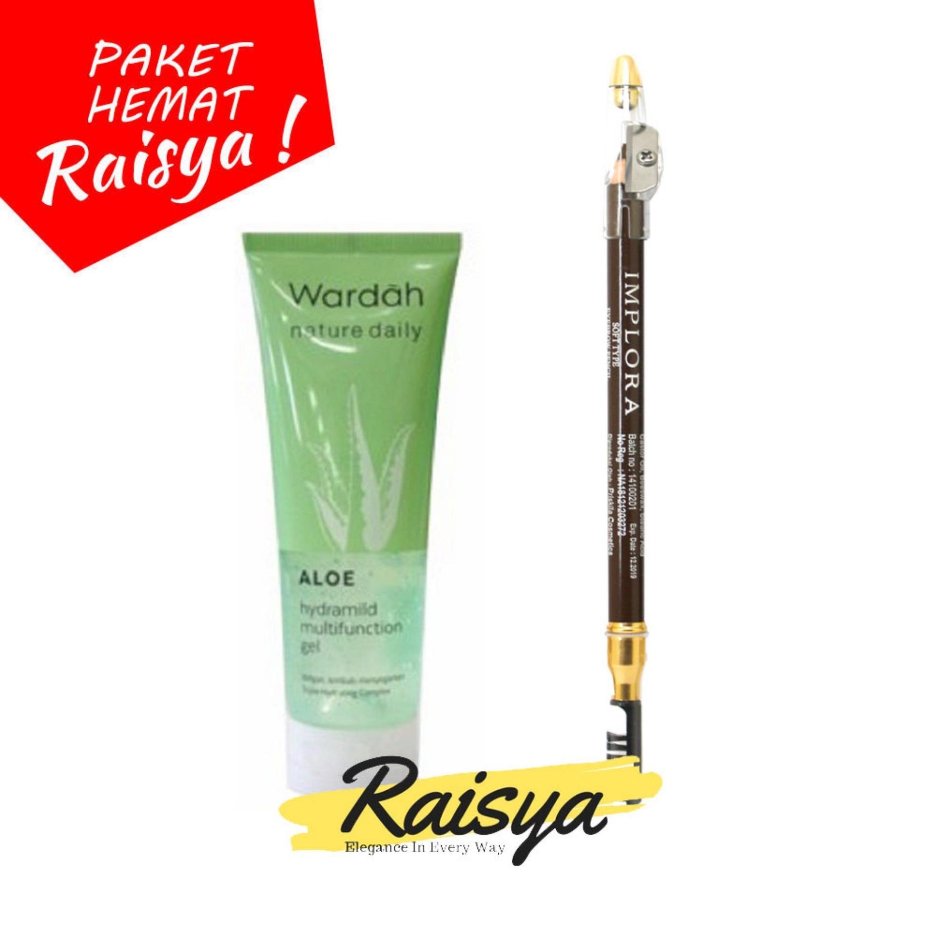 Wardah Hydrating Aloe Vera Gel Free Implora Pensil Alis Coklat Resmi BPOM