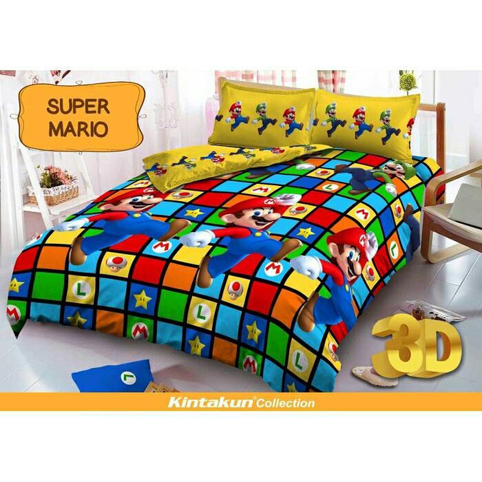 Sprei Kintakun Dluxe 120 Super Mario single size 120x200 - bmz3I8