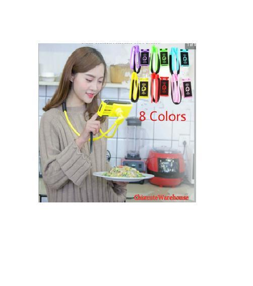 Gambar Rinci Terbaru LAZY HANGING NECK PHONE HOLDER LEHER HP LAZYPOD LAZY NECK POD Terbaru