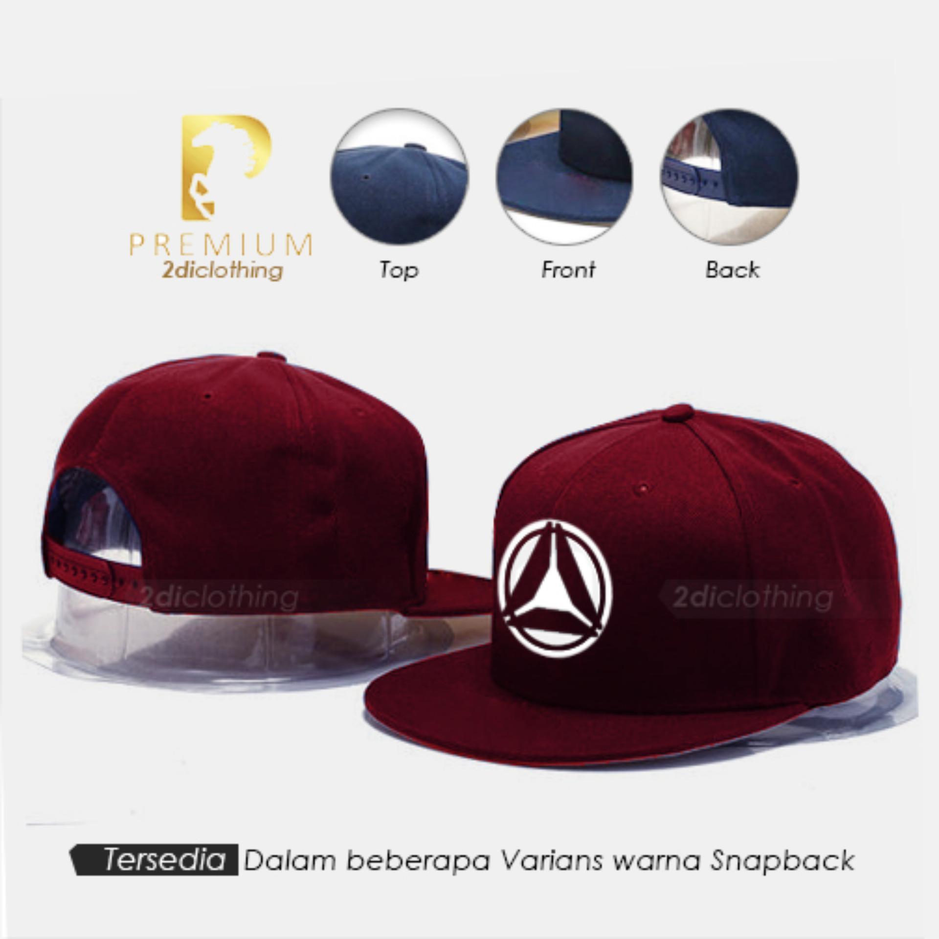 Topi distro snapback REEBOK maroon premium