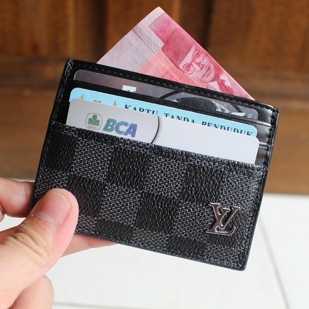 DOMPET KARTU CARD HOLDER ASLI KULIT IMPORT LOUIS VUITTON LV CC06 BLACK