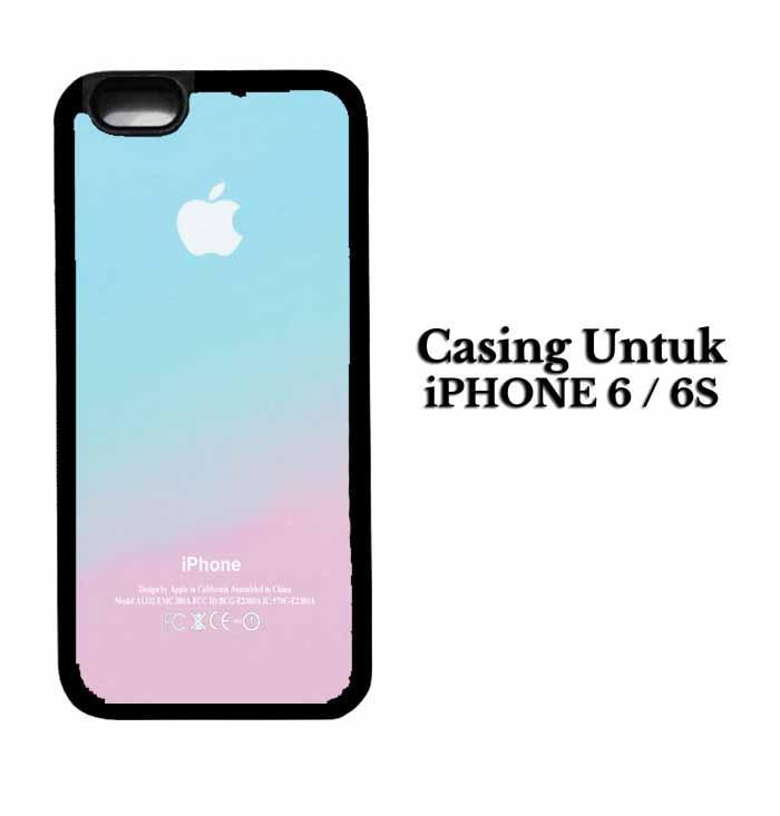 Casing IPHONE 6S Apple Logo Pink Aqua Teal Pastel Hardcase Custom Case Se7enstores