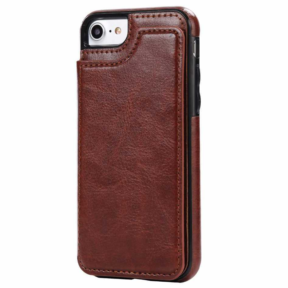 Leather Smartphone Case with Mini Wallet for iPhone 7/8 | Pelindung