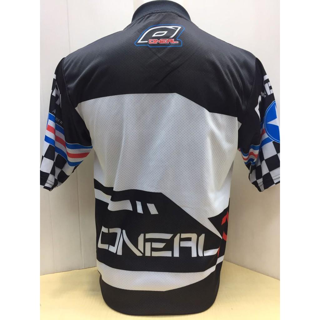 Kelebihan Baju Kaos Jersey Sepeda Motor Trail Gowes 219 Terkini Oneal Biru Merah Cross 3