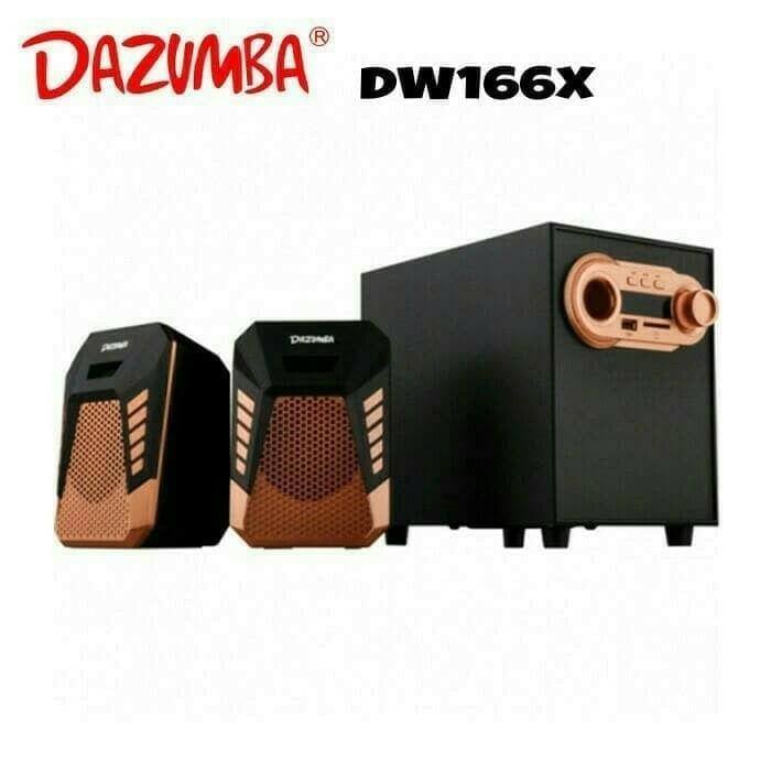 Gambar Produk Rinci Speaker Dazumba Aktif Portable DW166X Bluetooth Subwoofer BASS Terkini