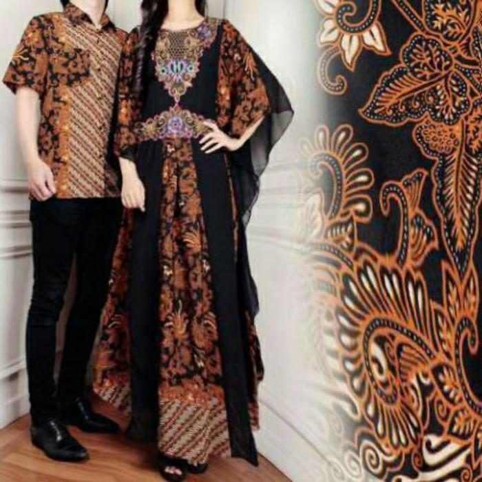(JNH Shop)    Couple Kaftan Mewah Alivia Baju Pasangan Sarimbit Batik Couple Alvia