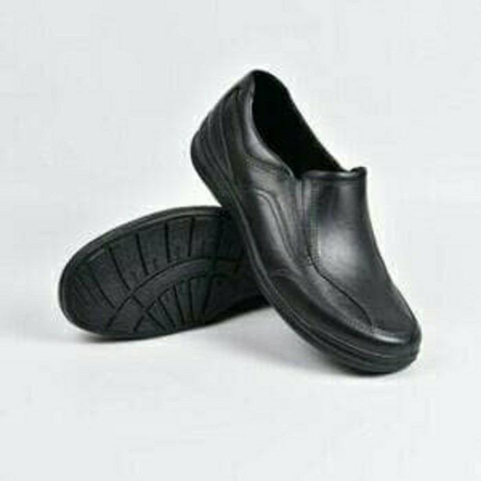ATT AB505 Sepatu Pria Pantofel Karet Sepatu Sekolah Kerja Hitam AB 505