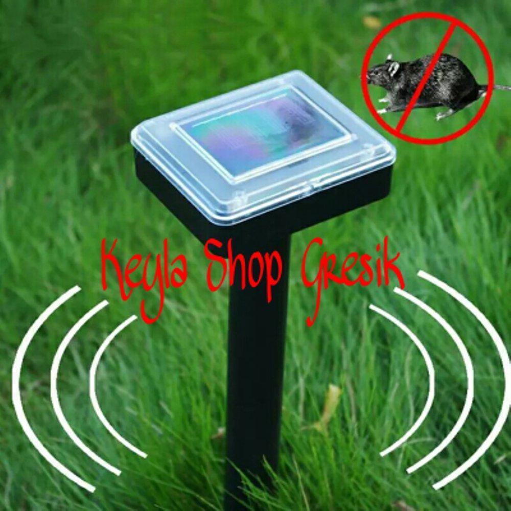 alat pengusir Anti Hama Tikus portable tenaga matahari surya power solar cell model tancap tanpa kabel dan Listrik mouse gelombang ultrasonic