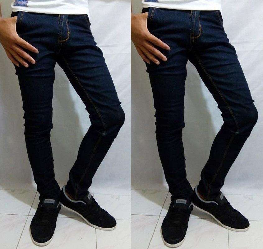 Celana Pria Fit Model Terbaru Skinny Pensil Soft Jeans Bahan Denim Street