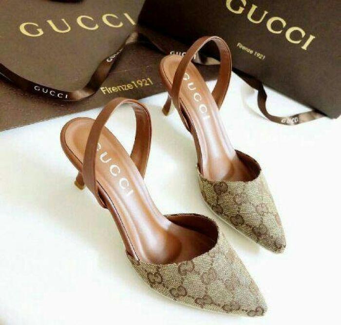 Sepatu Wanita High Heels GC NR09 TAN Elegant utk Pesta dan Kerja Murah Berkualitas