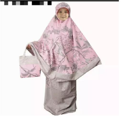 Mukena Anak katun Jepang Bella rosa merah RH