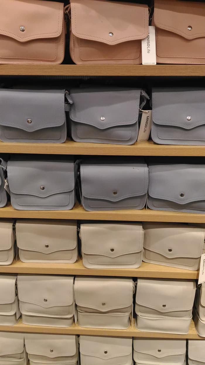 Promo Terlengkap Sling Bag Bahan Miniso Di Toko Online Shop Beli Tas Selempang Dada Chest 002 Original Import Onebutton Hand Fhlwec 5