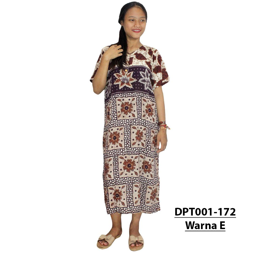 Daster Batik, Daster Lengan Pendek, Baju Tidur, Piyama, Leher Kancing, Bumil, Busui (DPT001-172) Batik Alhadi