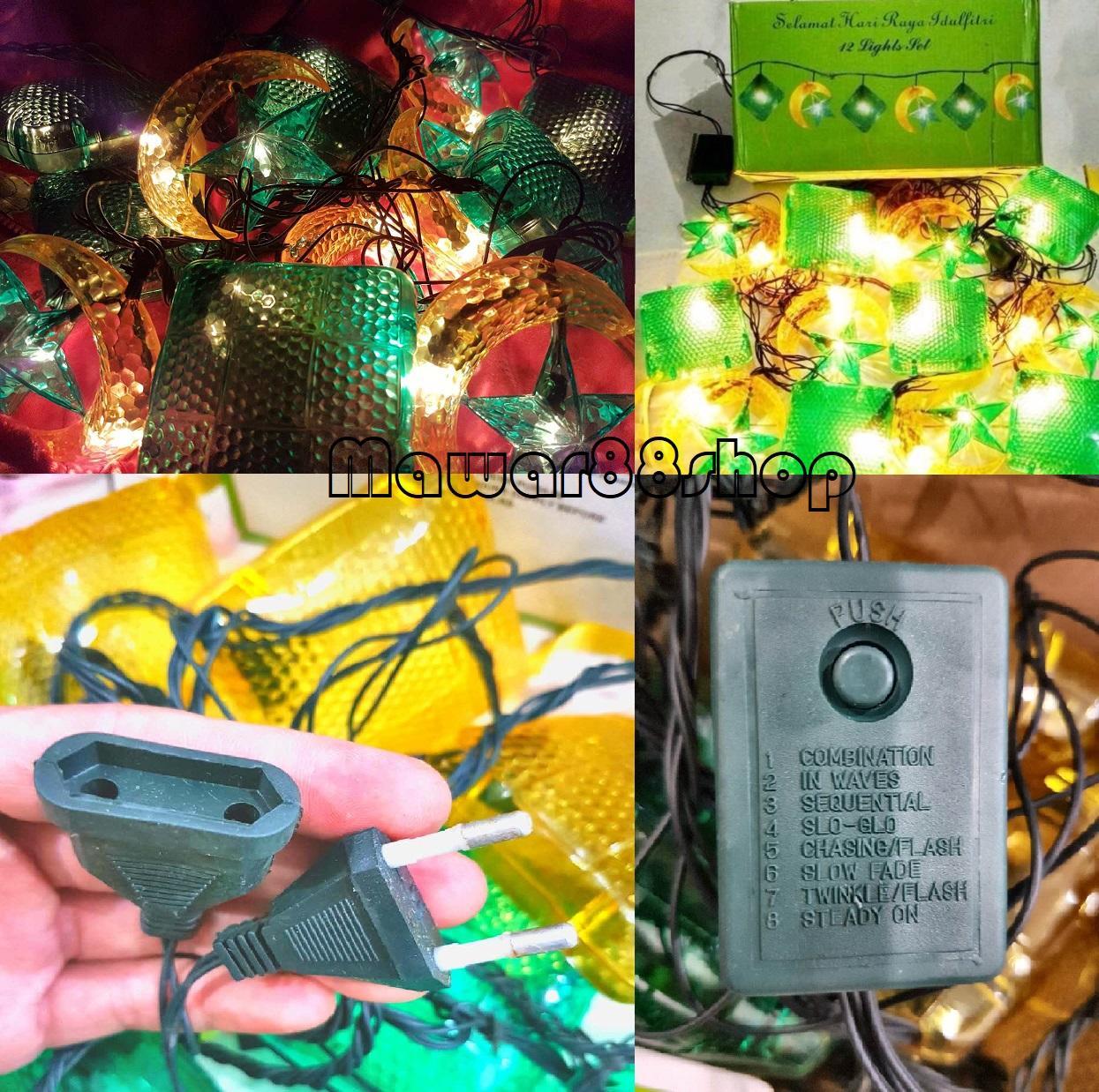 Lampu hias lebaran / lampu hias bentuk ketupat / lampu hias LED warna