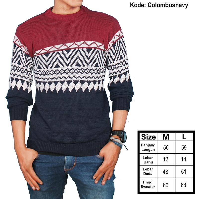 sweater rajut columbus triball