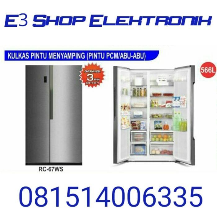 Kulkas Side by Side GEA RC 67WS / 2 pintu / SUPER MURAH