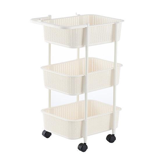 Ju la casa Kitchen Multilayer Storage Basket the Bathroom Floor-to-Ceiling Storage Shelf Plastic Vegetables Fruit Storage Basket Storage Rack