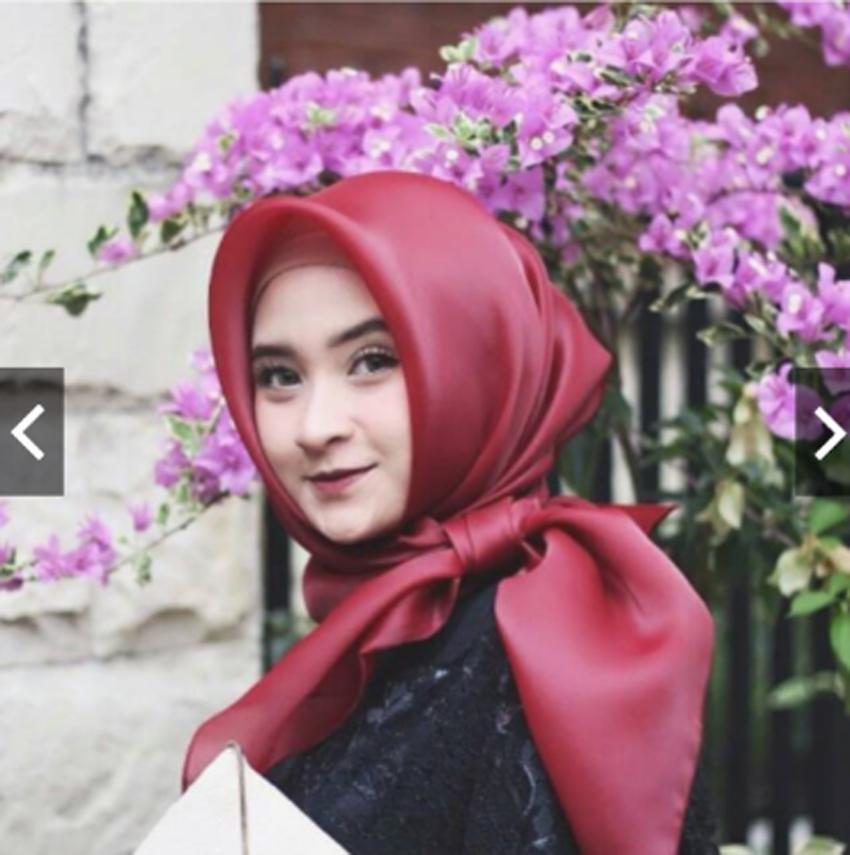 MoslemWear Hijab Jilbab Premium Kondangan Pesta mewah Organza Silk Kekinian - Kerudung segi empat organza kain kac - Kebaya Batik Pesta Modern - Square Hijab Busana Baju Gamis Pesta Kondangan Muslimah Muslim Cantik Wanita Mewah ihorganza