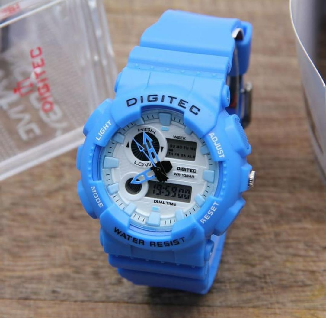 Digitec Dual Time - Jam Tangan Sport Pria & Wanita - Rubber Strap - Limited Edition
