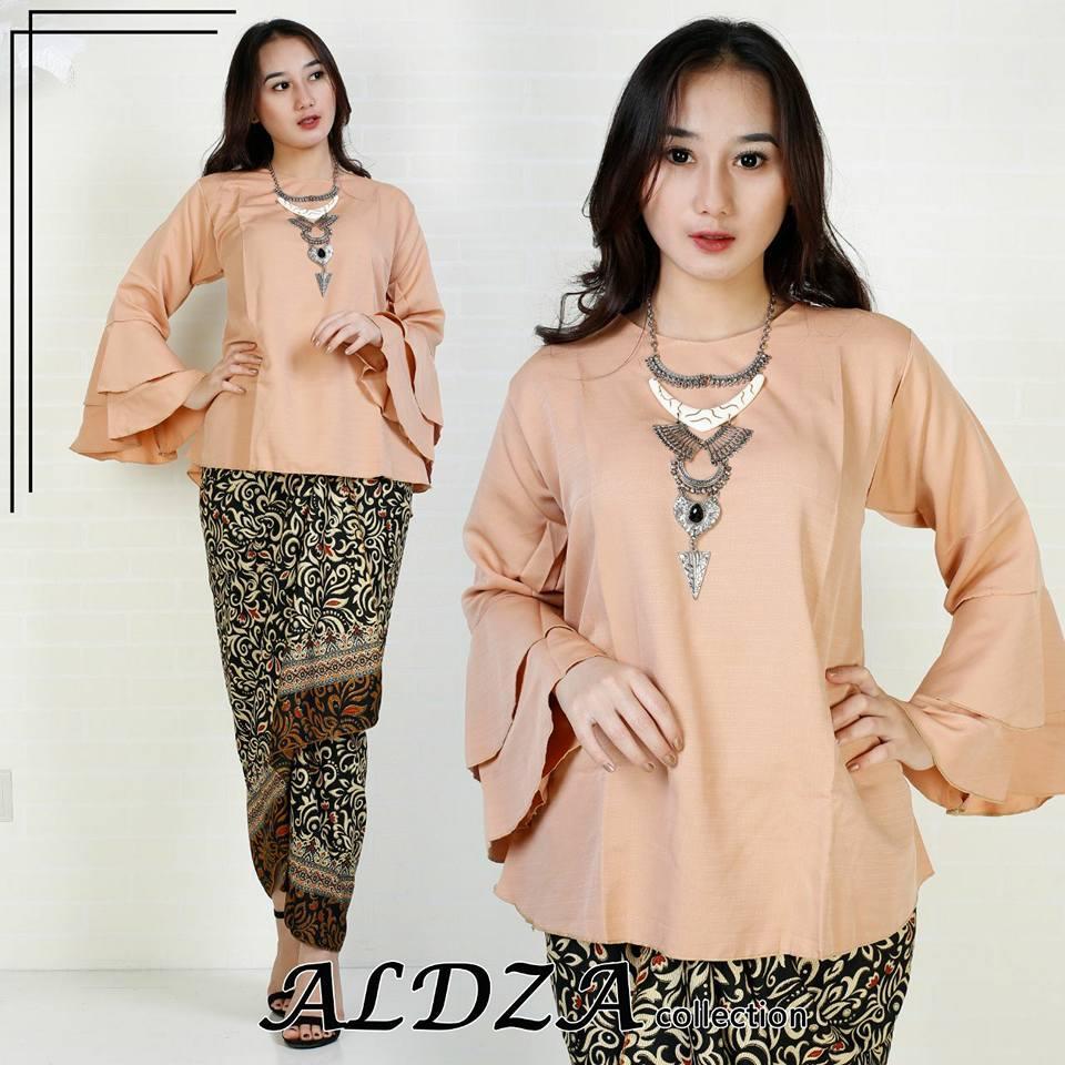 setelan kebaya modern trompet - baju batik wanita -kebaya lebaran-batik  lebaran- fashion d8e9e42121