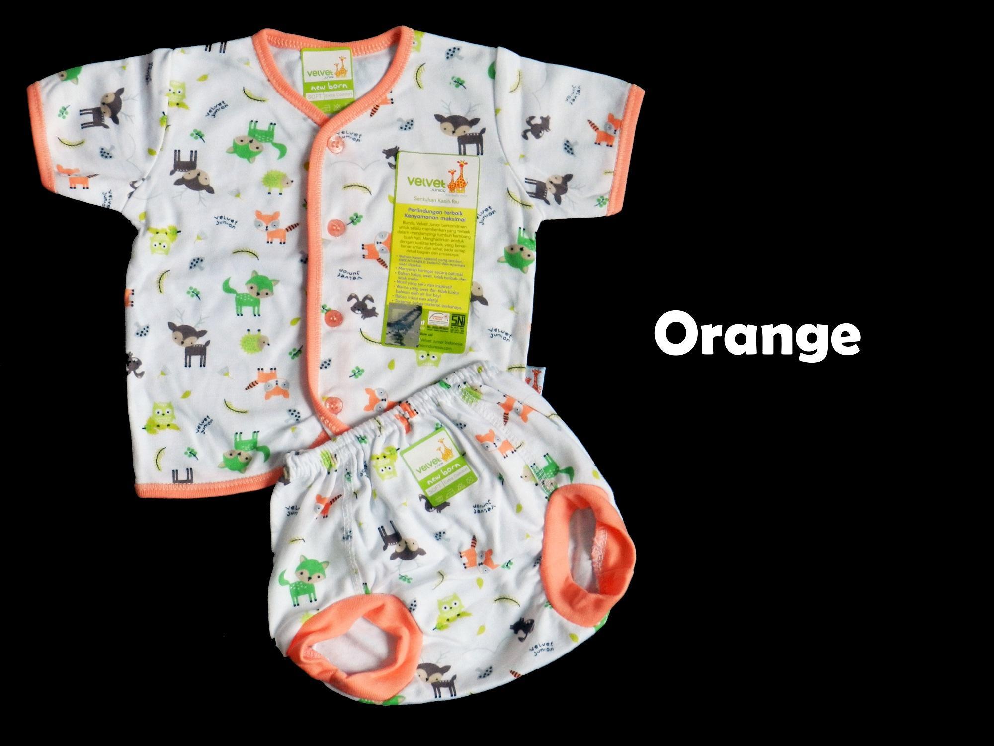 Baju Bayi Setelan Velvet Pendek New Born