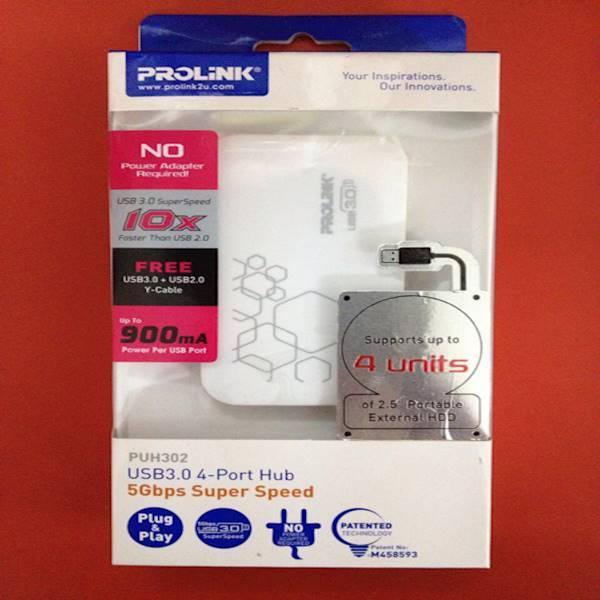 Usb Hub 4 Port Usb3.0 Prolink PUH302 5Gbps Super Speed