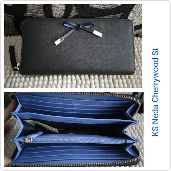 Dompet Kate Spade Original / Katespade Neda Cherrywood Black Wallet - ys57u0
