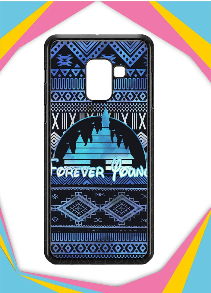 Casing Samsung Galaxy A8 Plus 2018 Custom Hardcase Forever Young Disney Aztec Pattern Design Z5414 Case Cover