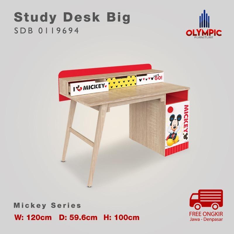 Olympic Kids Mickey Study Desk Big Meja Belajar Anak- SDB 0119694