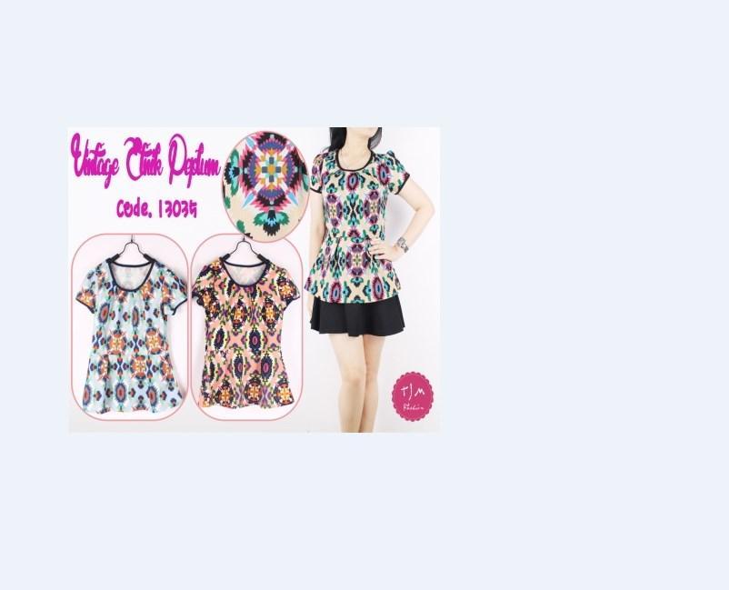 Oma Holley Fashion Able Blouse Casual Bintik - 3 Warna - Size M