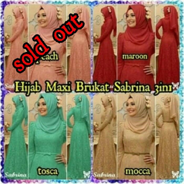Hijab Maxi Brukat Sabrina 3in1