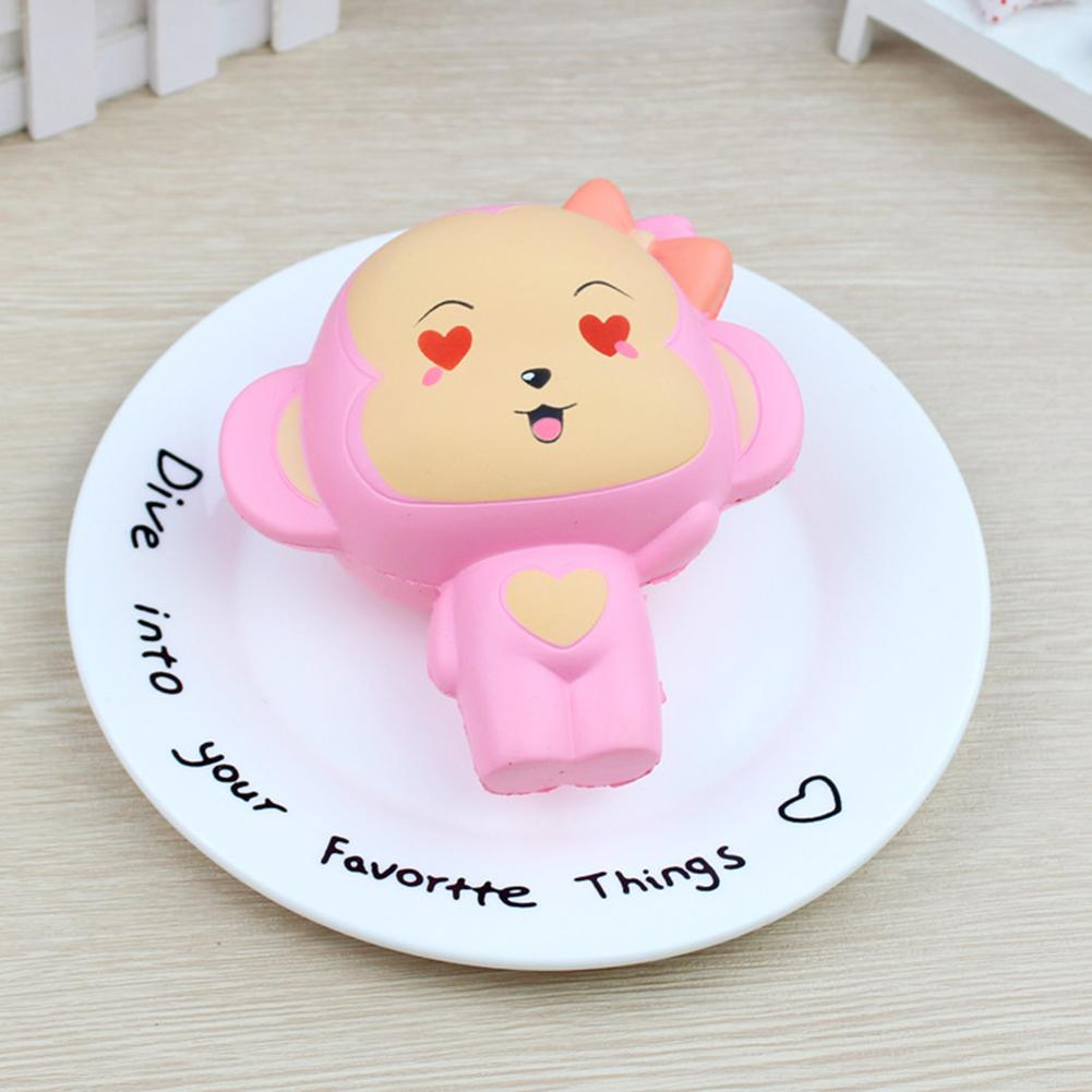 Wonderful Toy Cute PU Simulation Monkey Toy Slow Rising Squishy Stress Relieve Squeeze Toys Gifts Pink