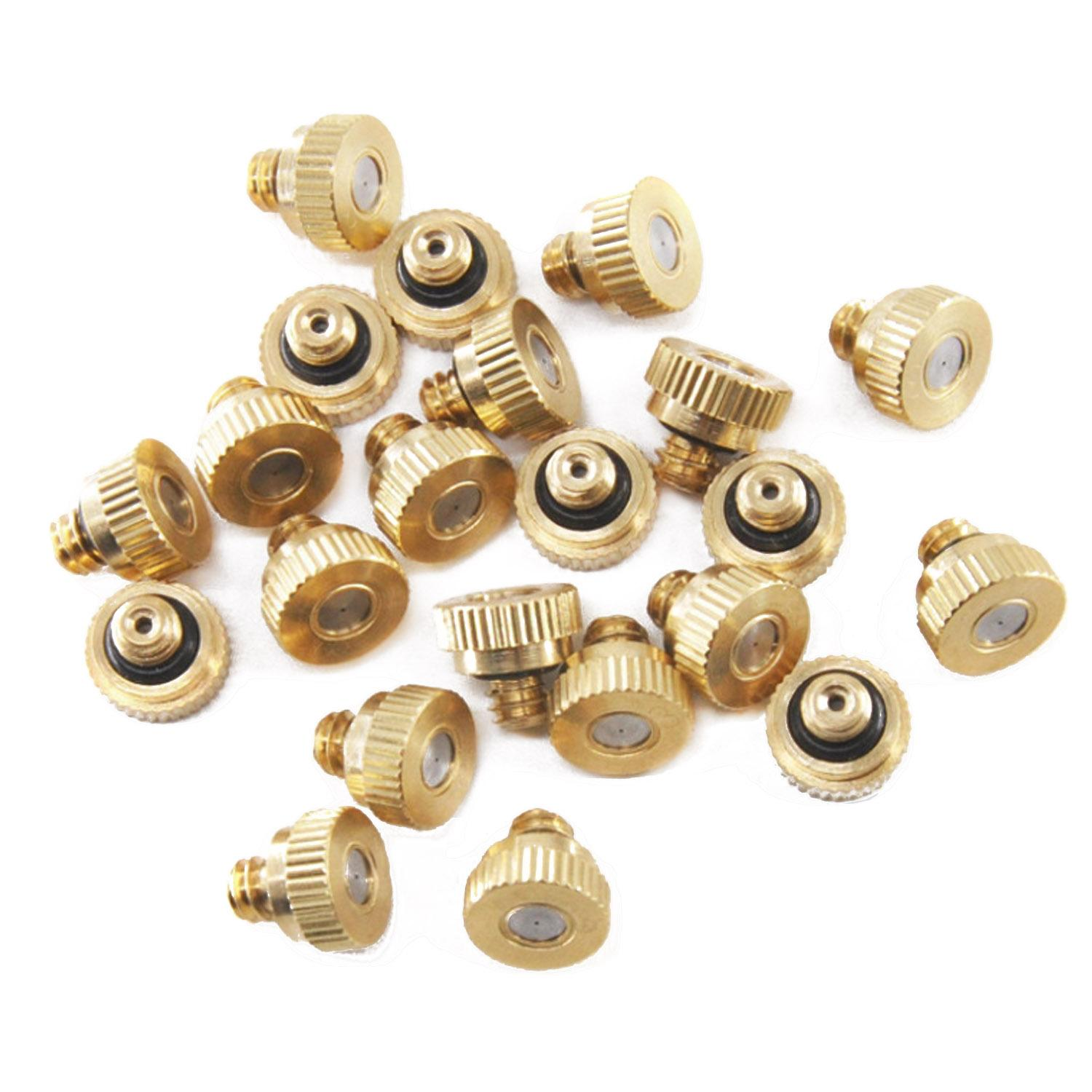 20 PCS 0.3mm Brass Misting Nozzles Atomizing Spray Mister Nozzle for Outdoor Cooling System -