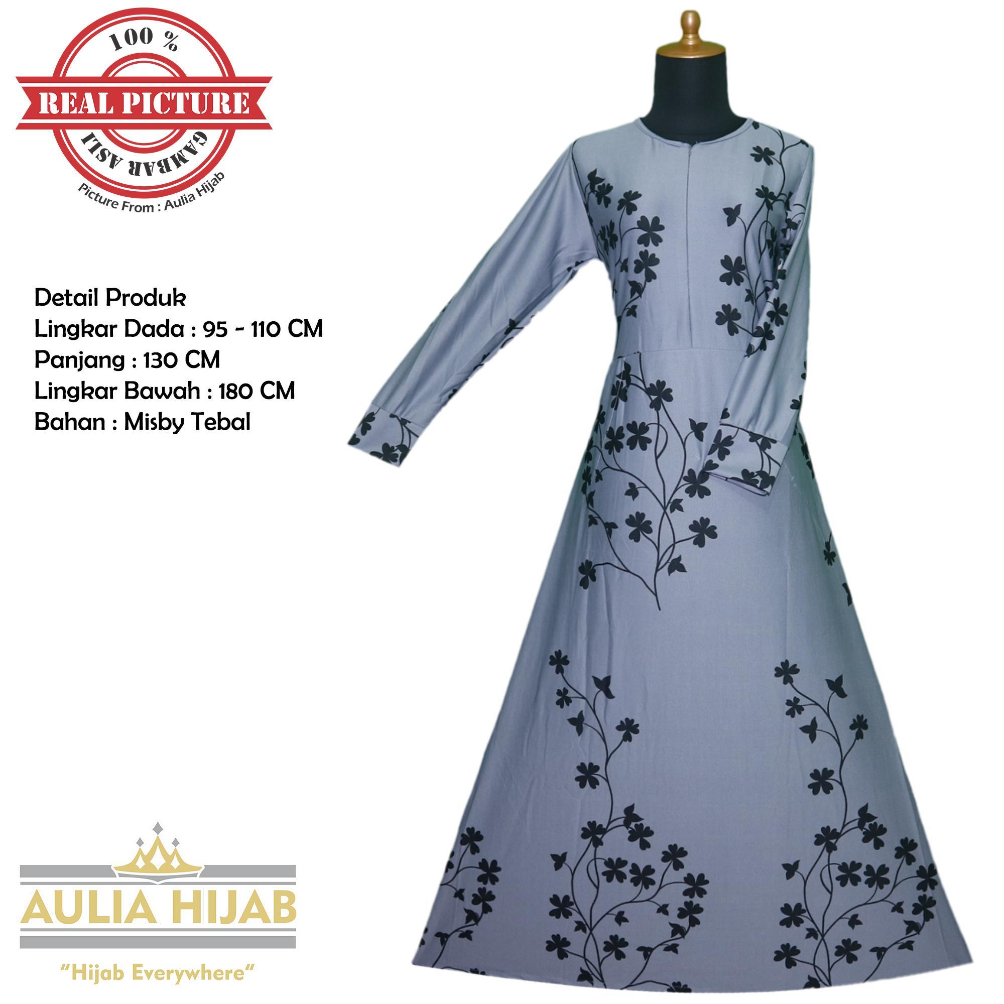 Aulia Hijab - Gamis Aurel Dress Bahan Misby/Gamis Murah/Gamis Cantik/Gamis Murah/GAmis Real Picture/Gamis Pesta/Gamis Santai/Gamis Jersey/Gamis Zipper Depan/Gamis Menyusui/Gamis Bunga-bunga/Gamis Terbaru/Gamis Best Seller