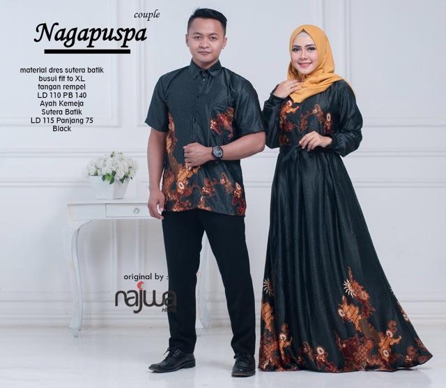 Busana Muslim Couple Nagapuspa - Baju Gamis Pasangan Sarimbit ba790b77e8