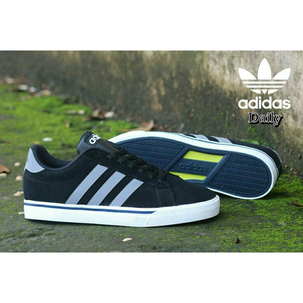 Sepatu Bandung Produk Sporty Pria Murah Sneakers Kets Kasual Men Laki Adidas Daily Made in Indonesia