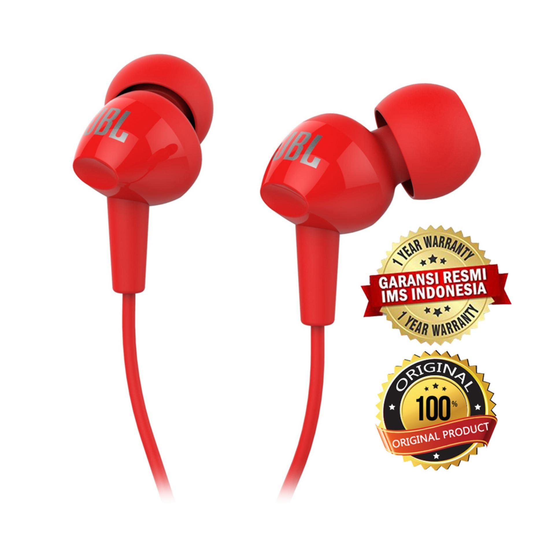Jbl Wired In Ear Headphone C100si Original T110 With Pure Bass Microphone And Flat Cable Earphone Garansi Ims Bkn Headset