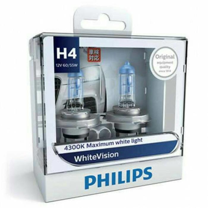 Lampu Philips White Vision H4 4300k 60/55w