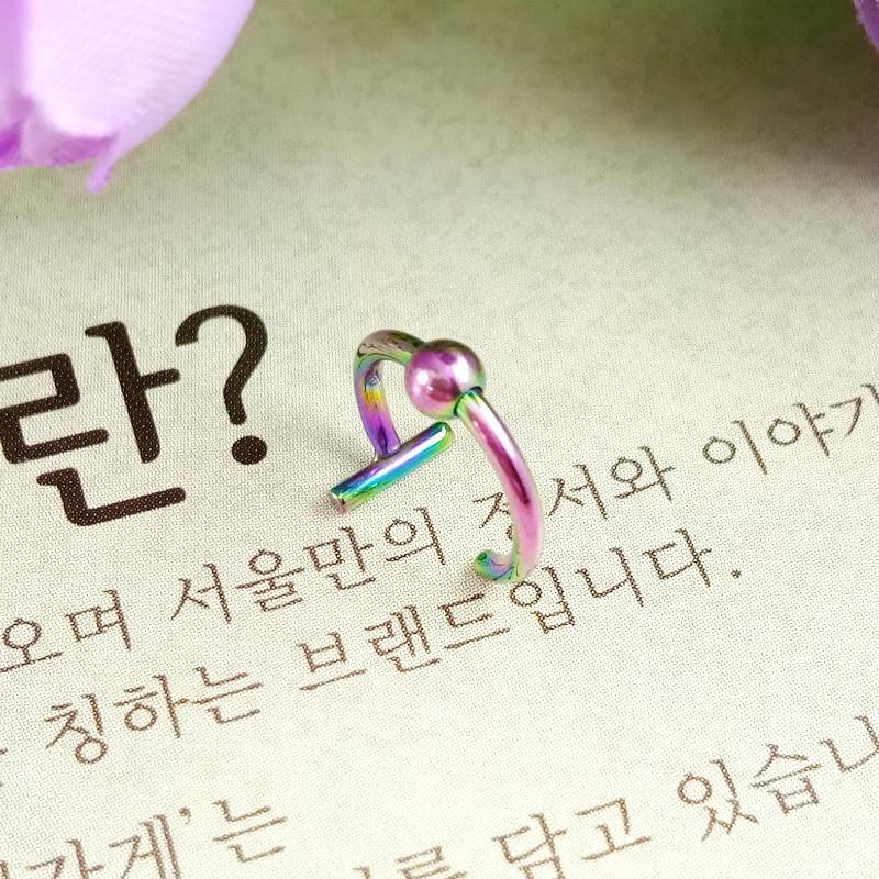 Anneui - BP0094 - anting jepit korea - fake piercing - tanpa tindik