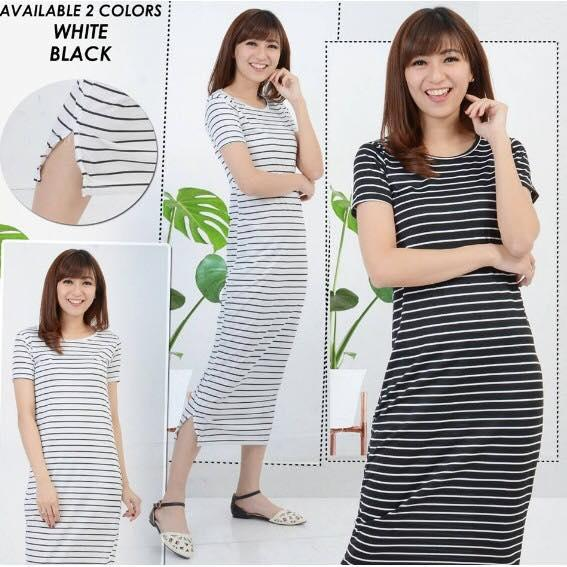 Labelledesign DRESS SALUR ANISSA MAXY WANITA BASIC STRIPE