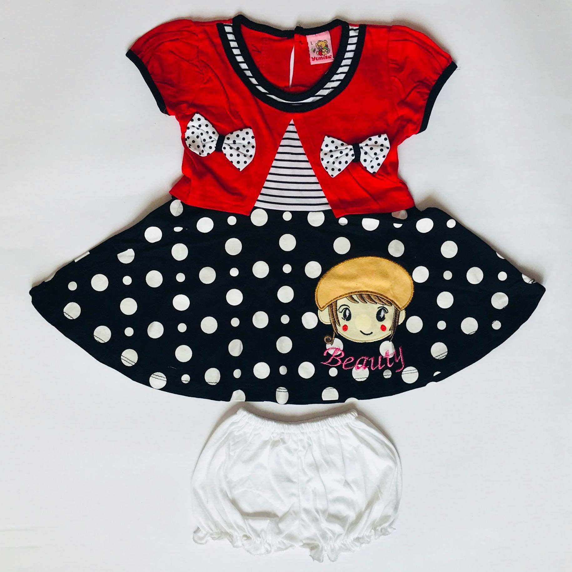 BAYIe - Setelan Baju Bayi Dress Anak Perempuan motif CEWEK YUNISA / Pakaian anak cewek umur