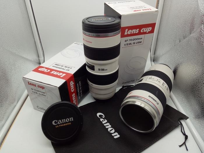Gelas Tumbler Air Panas Dingin Lensa CANON Ultrasonic ZOOM 70-200mm
