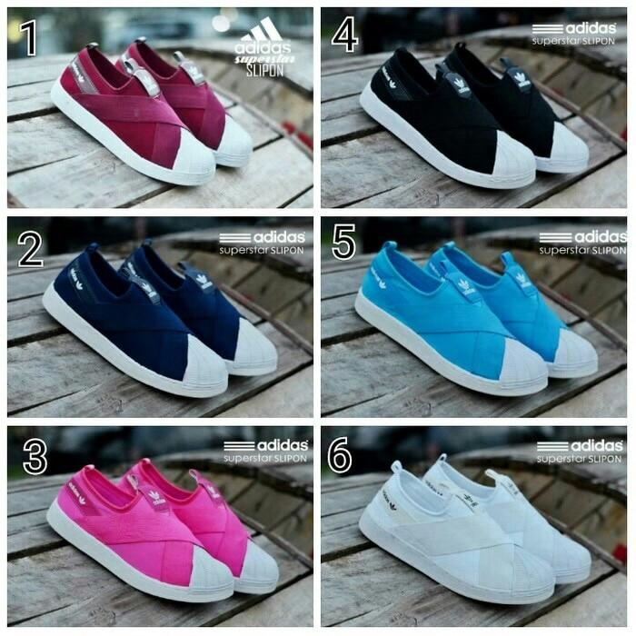 Promo SEPATU SANTAI MODIS ADIDAS SUPERSTAR SLIP ON WOMEN Diskon