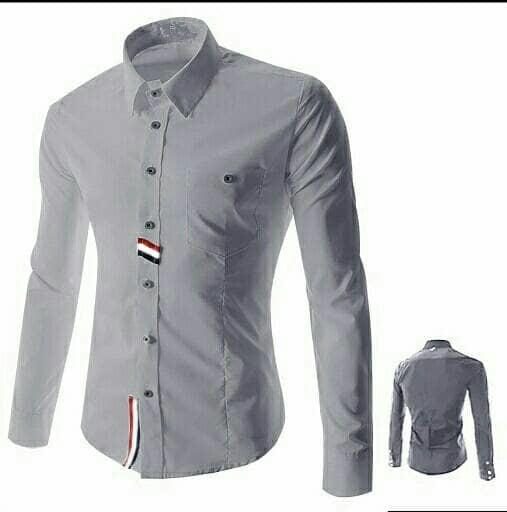 Kemeja Icko Abu Fashion Cwo Atasan Baju Pria Hem Laki
