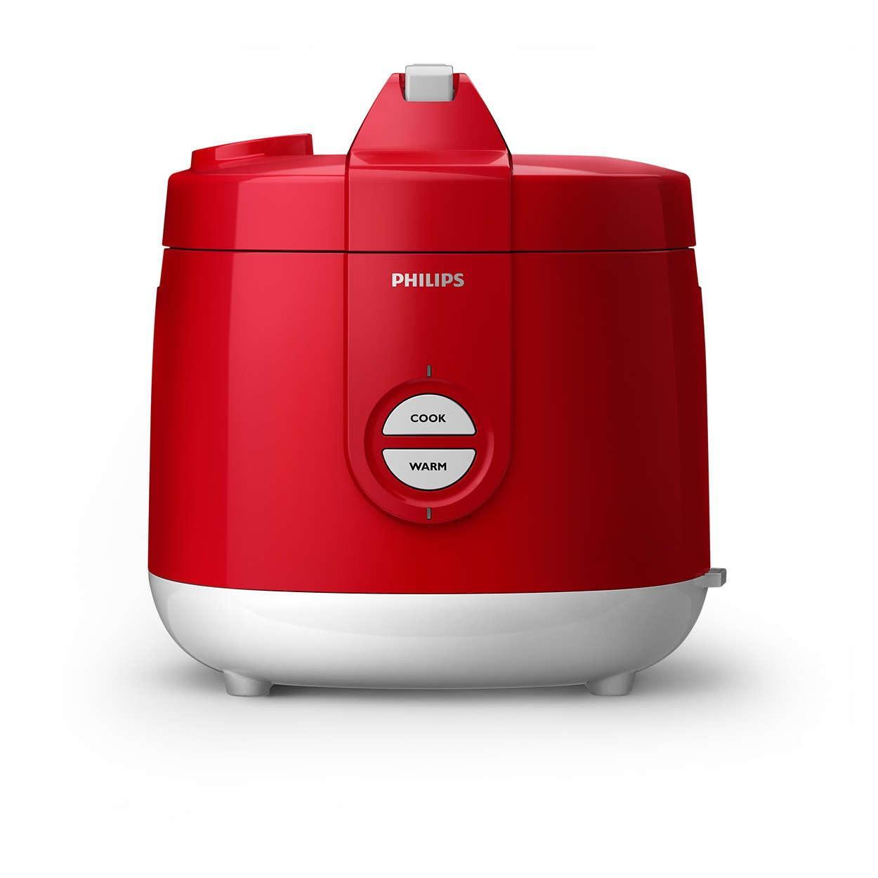 Philips Rice Cooker / Penanak Nasi HD3127/32 Red Merah