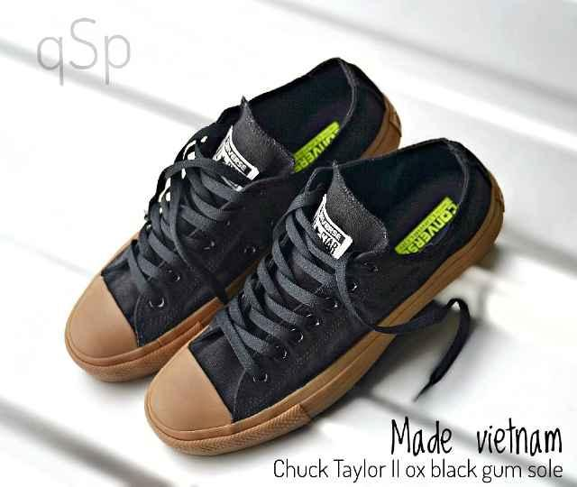 Promo Sepatu Pria Converse Chuck Taylor Black Sol Gum Casual Sneakers Kuliah Fashion