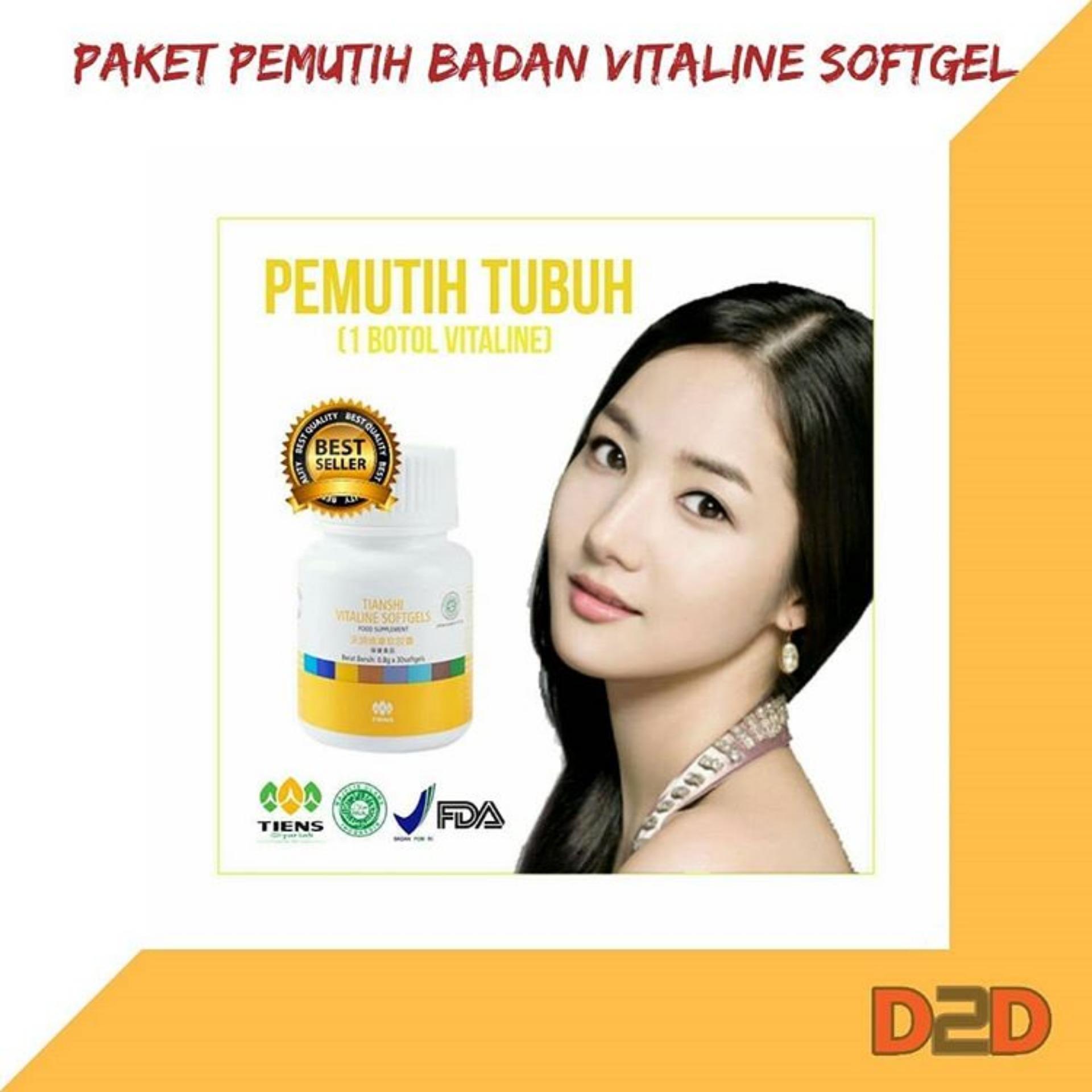 wajah Tiens obat jerawat dari dalam menghilangkan bekas jerawat dan bopeng paling ampuh Vitaline Softgel