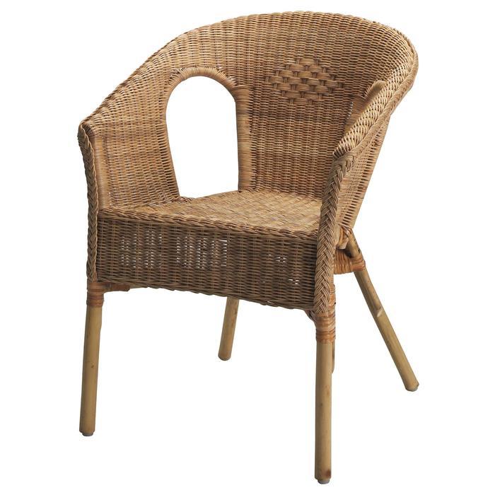 IKEA AGEN Kursi, rotan, bambu