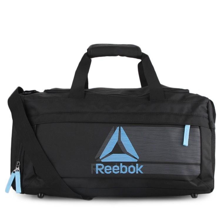 Tas Reebok Delta Shade Team Bag / Travel Bag Black Sky Blue Original 100%