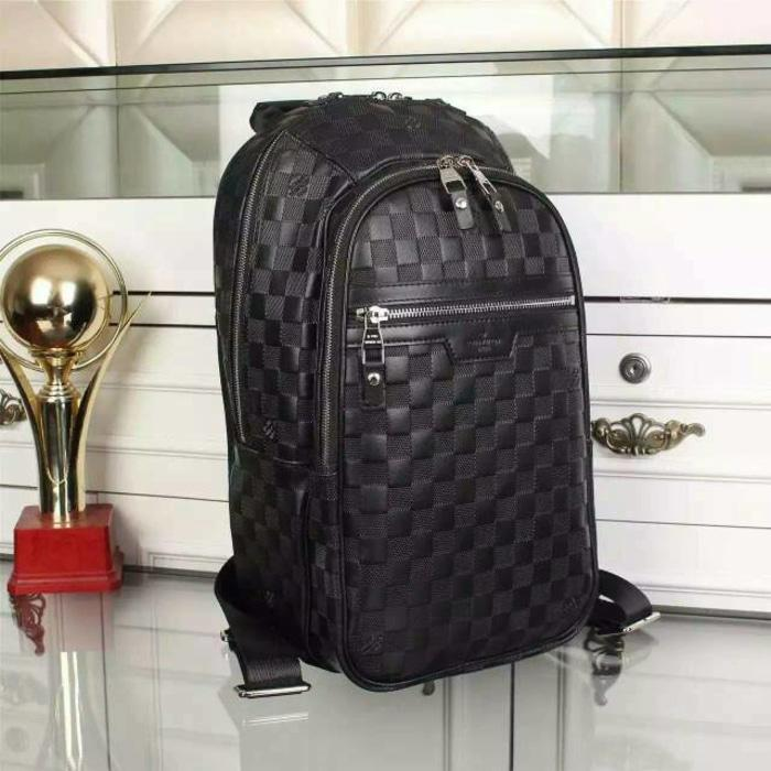 Tas Louis vuitton backpack michael infinite ori leather high quality - lbtilB